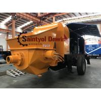 Buy Powerful 30 m3/hr ~80 m3/hr trailer hydraulic concrete pump with diesel or electric power at wholesale prices