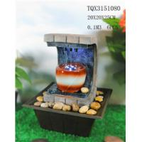 Quality Polyresin Water Fountain Hand Painting With Led Lights For Home Decoration for sale