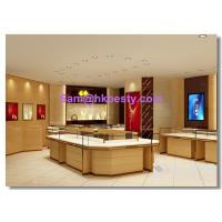 Quality gold jewelry retail store furnitures display showcases , kiosks and wall cabinets for sale