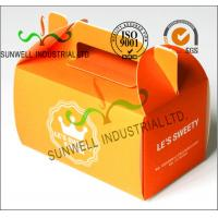 Quality Offset Printing Corrugated Cardboard Food Food Serving Boxes Art Paper Top E Flute for sale