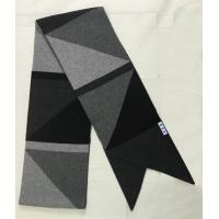 Quality Intarsia Cable Knit Cashmere Scarf , Triangle Color Block Ladies Knitted Scarves for sale