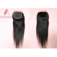 Quality Brazilian Virgin Hair 4x4 Lace Closure Silky for sale