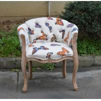 Buy cheap French Antique Armrest Makeup Dressing Room Chair with Button Back from Wholesalers