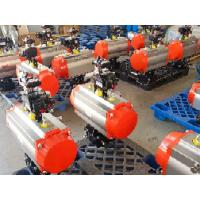 Quality rack and pinion Double Action Cylinder Actuators with accessories for sale