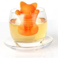 Quality Orange Cat shaped Food Grade safe Silicone Tea Strainers BPR Free for sale