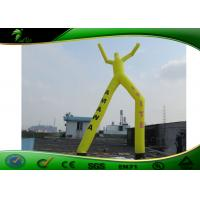 Quality Yellow Double Oxford Cloth Air Dancer , 2 Legs Inflatable Sky Dancer Wind Man for sale
