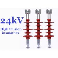 Composite High Tension Insulators , 24kv Hydrophobic Overhead Line Insulators