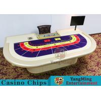 Quality Macao VIP Dedicated Casino Poker Table With Standard Simulation Pu Leather Handrails for sale