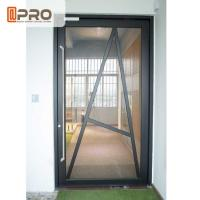Quality Tempered Glass Pivot Front Door , Aluminium Contemporary Entrance Doors for sale