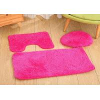 China 100% polyester  white color anti-slip   toilet seat cushion rugs for sale