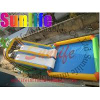 Quality Promotion Colourful Commercial Outdoor Inflatable Water Slide For Pools UL / CE for sale