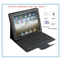 Buy cheap folding leather silicon ergonomics ipad case with bluetooth