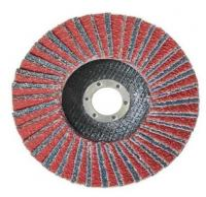 China Non Woven Flap Disc with Aluminium Oxide Abrasive Blaze type 27, type29 Grit Center Mount Plastic Flat Flap Disc on sale