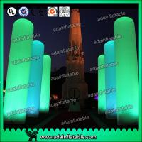 Quality 3M Inflatable Pillar Entrance Decoration Lighting Inflatable Column For Wedding for sale