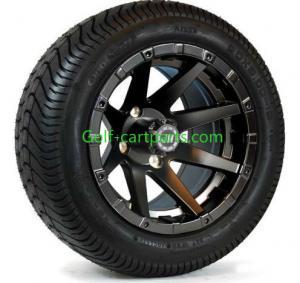 China Custom 12 Inch Golf Cart Wheels Tires Ezgo Wheels And Tires Set Of 4 Shiney on sale