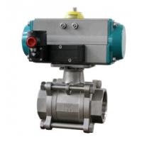 Quality Ball valve with pneumatic rotary actuators double acting and spring return for sale