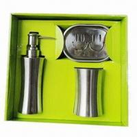 Quality 3-piece bathroom set, made of stainless steel for sale