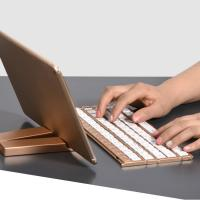 Quality Single Item Folding Bluetooth Keyboard 180mAh Li - Ion Battery With Stand Holder for sale