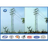 Q345 Hot dip galvanized Electrical Power Pole with 16M ~ 20M Height 470 ~ 630 Mpa Tensile Strength