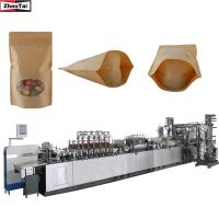 Quality 58kw Standing Pouch Machine / Zipper Pouch Stand Up Pouch Packing Machine for sale