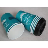 Take Away Disposable Paper Coffee Cups Custom Printed Single / Double PE Coated