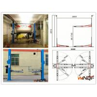 Quality High Stability Hydraulic 2 Post Car Lift With Adjustable Beam for sale