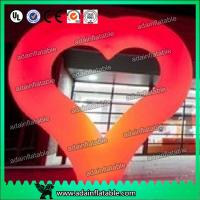 Quality 2m Heart Inflatable Decoration , Hanging Inflatable Wedding Decorations for sale