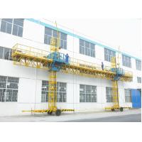 China Twin Mast Climbing Platform 23.8m Length 2000kg Loaded climbing type construction lifting platform on sale