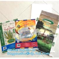 Quality Custom recyclable kraft paper laminated pp woven food packaging bag with logo printing,25kg 20kg urea fertilizer packagi for sale
