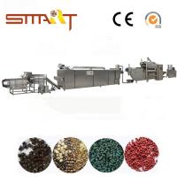 Quality 120-150kg / Hr Pet Food Extruder Machine Electric Power Automatic Fish Feed Machine for sale