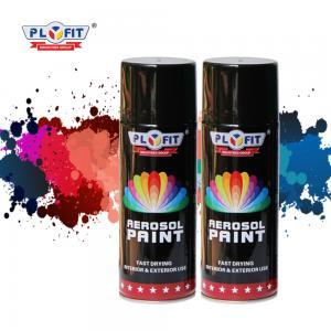 Quality Multi Purpose ODM 400ml Aerosol Spray Paint Black For Car Industrial for sale