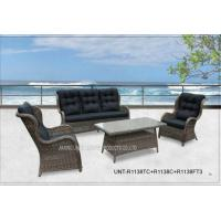 Quality All Weather Popular Patio Seating Sets , Garden Outdoor Wicker Patio Furniture for sale