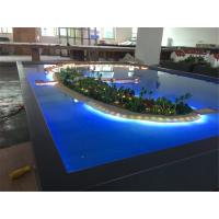 Quality Miniature Villa 3D Model Refined Handmade Technic With Lighting System for sale
