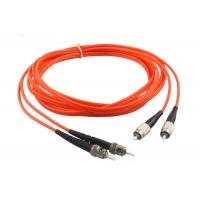 China ST LC SC FC Multimode Fiber Patch Cord 1 / 2 / 5M Length -40 - 75℃ Operating on sale