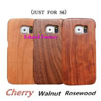 Buy Classic Retro Wood Phone Cases For Samsung Galaxy S6 Back Cover Genuine Natural Wood Phone Cover With Wholesale Price at wholesale prices