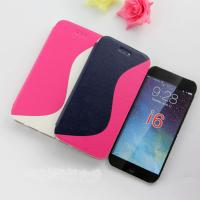 Quality Three Color Blocking Oil Wax Leather Case Cover for Iphone6 for sale