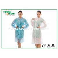 Quality Polyethylene disposable lab gowns with Shirt Collar , CE Certificate for sale