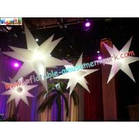 Inflatable star decoration with led light or common light for Amusement park decoration games
