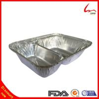 Quality Two compartment Take-out Aluminum Foil Container For food Packing for sale