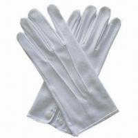 China Fashion White Cotton Gloves, Formal Wear or Uniform Accessories, Waiters, Banquet, Military on sale