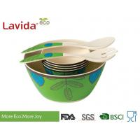 Quality Reusable Melamine Salad Bowl Set Environmental Friendly With Serving Fork Spoon for sale