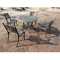 China Green Outdoor View Cast Iron Garden Furniture Set Weather Resistant For Restaurant on sale