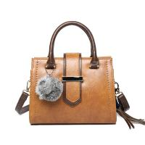China Lady bag 2017 winter new design handbag Korean Fashion Shoulder Bag Large capacity Cross body bag with Fuzzy ball tassel on sale