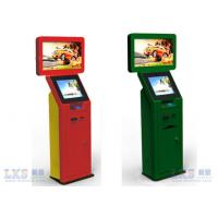 China Lobby Computer Dual Screen Free Standing Kiosk Standalone , Credit Card Kiosk on sale