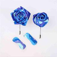 Quality Wedding Party Handmade Flower Brooch Eco - Friendly Fray Resistant Material for sale