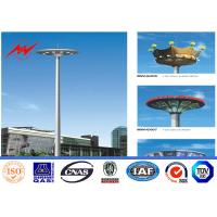 Quality 40M 12 Sides Galvanized High Mast Pole for Plaza Lighting with Winch for sale