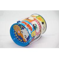 Quality Barrel Custom Biscuit Tin Box With hanlde Cartoon-Cute Hamtaro Mouse for sale