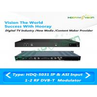 Quality DVB - T 1U COFDM IP ASI Dual RF Modulator 50~960MHz Terrestrial Cable Web Browser for sale