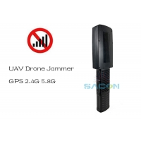 China 20w Mini Portable Drone Signal Jammer Battery Inside LED display 2.4G 5.8G GPS on sale