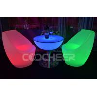 China Mutil color Garden And Patio glow outdoor furniture coffee table with led lights on sale